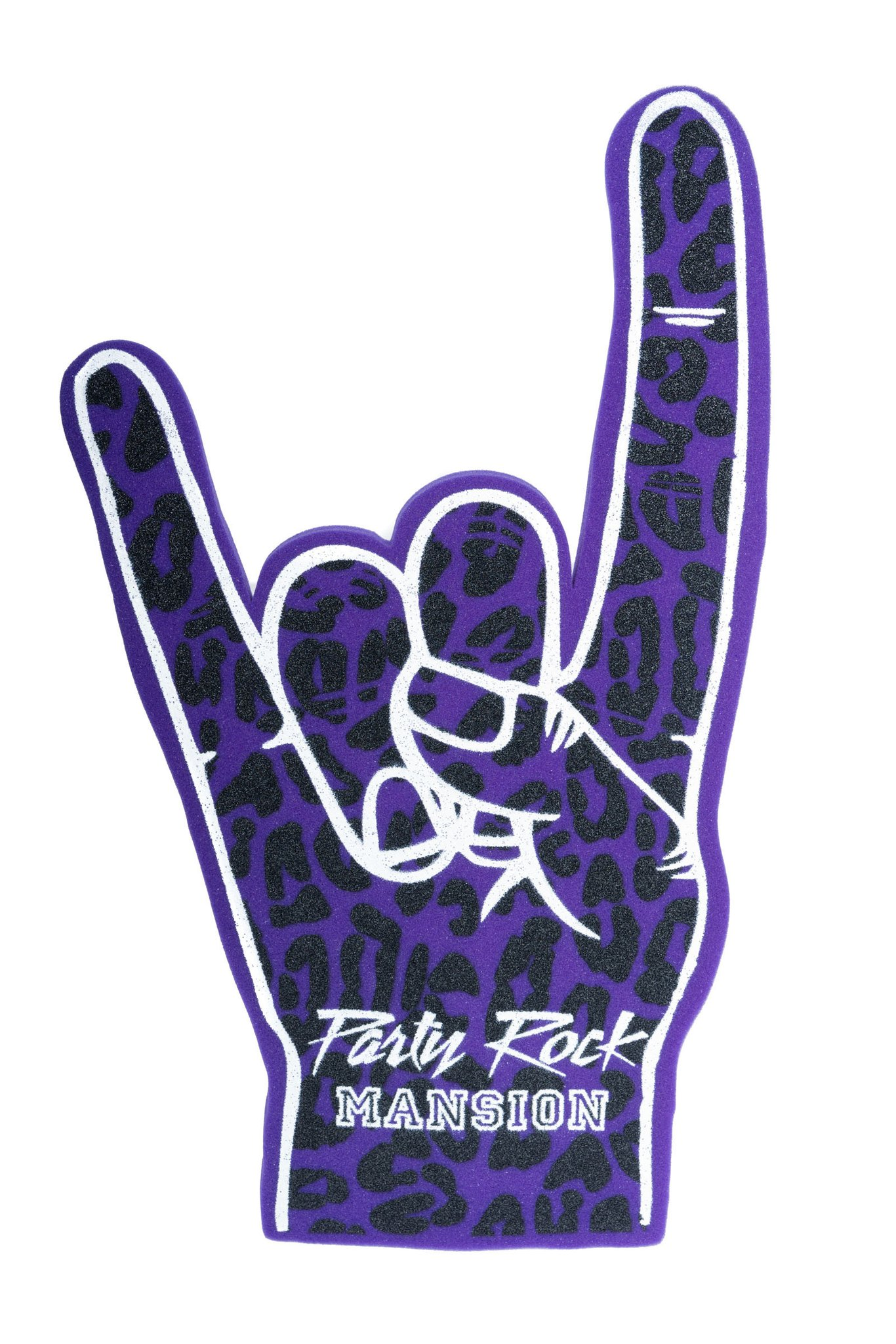 Party Rock Clothing★パーティーロッククロッシング ★Party Rock Mansion Foam Fingers (紫)
