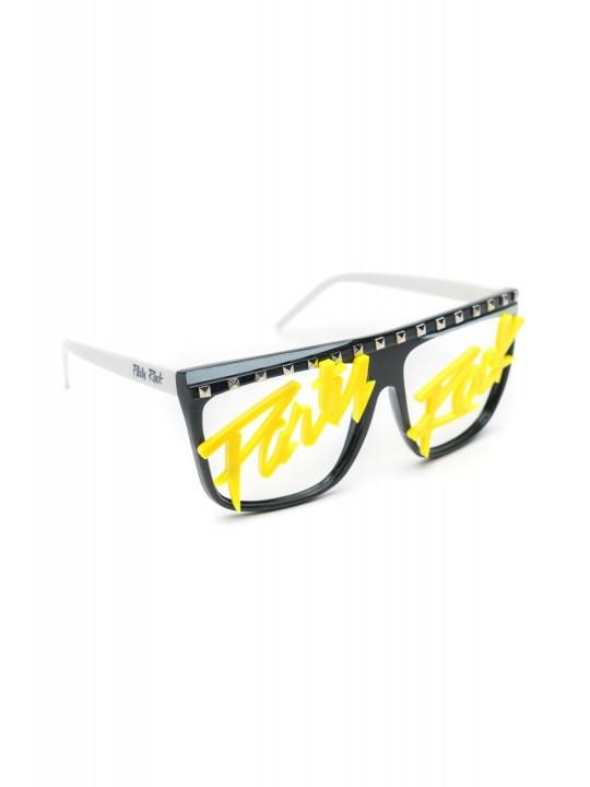 Party Rock Clothing★パーティーロッククロッシング ★Party Rock Words Glasses (ブラック/イエロー)