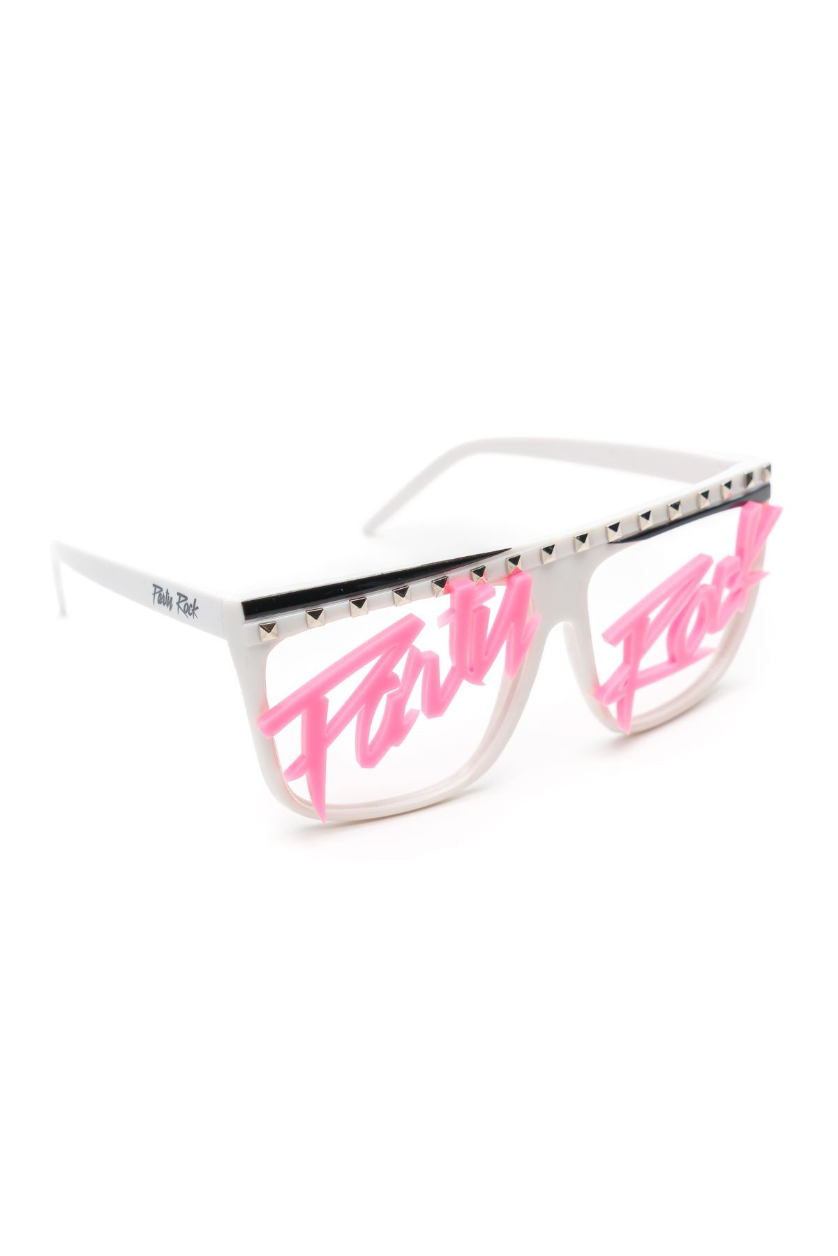 Party Rock Clothing★パーティーロッククロッシング ★Party Rock Words Glasses (ホワイト/ピンク)