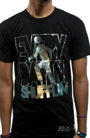 Party Rock Clothing★パーティーロッククロッシング ★Party Rock Everyday I'm Shufflin Tee (ブラック・シルバー)