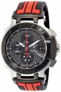 [ティソ]Tissot 'TRace' Swiss Stainless Steel and Rubber Automatic Watch, Multi T0484272706100