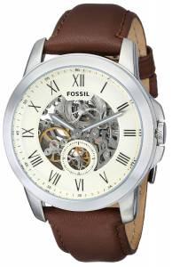 [フォッシル]Fossil  Grant TwoHand Automatic Self Wind Leather Watch Brown ME3052 メンズ