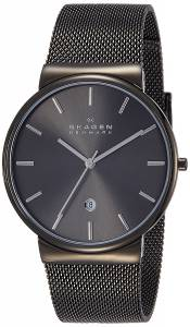 [スカーゲン]Skagen  Ancher Gray Stainless Steel Watch with Mesh Band SKW6108 メンズ