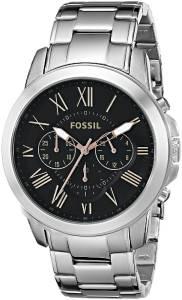 [フォッシル]Fossil  Grant Chronograph Stainless Steel Watch SilverTone FS4994 メンズ