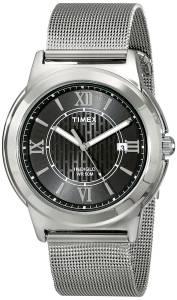 [タイメックス]Timex 腕時計 Main Street SilverTone Dress Watch T2P5199J メンズ