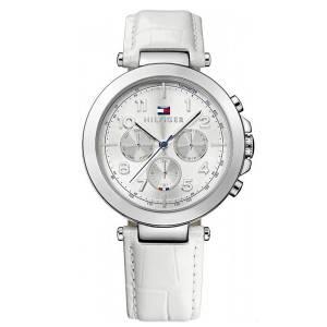 [トミー ヒルフィガー]Tommy Hilfiger  stainless steel white leather strap watch 1781448