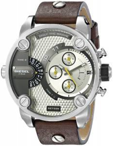 [ディーゼル]Diesel  Little Daddy Stainless Steel Watch with Brown Leather Band DZ7335
