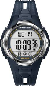 [タイメックス]Timex 腕時計 Marathon T5k804 Digtal Navy Bl/yellow Watch T5K8049J