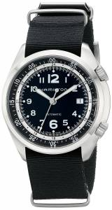 [ハミルトン]Hamilton Khaki Aviation Automatic Stainless Steel Watch with Black Canvas H76455933