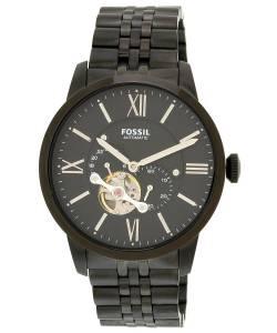 [フォッシル]Fossil  Townsman Mechanical Stainless Steel Watch with Black Link Bracelet ME3062