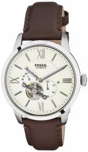 [フォッシル]Fossil  Townsman Stainless Steel Mechanical Watch with Brown Leather Band ME3064