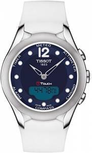 [ティソ]Tissot 腕時計 TTouch Solar BlueDial White Rubber Watch T0752201704700
