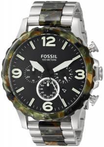 [フォッシル]Fossil  Nate Chronograph Stainless Steel and Acetate Watch TwoTone JR1498