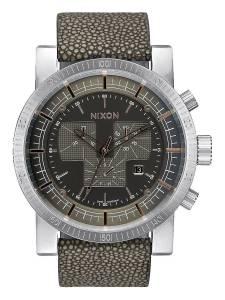 [ニクソン]NIXON Magnacon Leather II Gray Stingray Chronograph Stainless Steel Analog A4582146-00