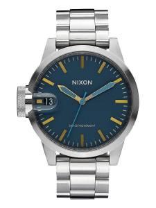 [ニクソン]NIXON 腕時計 Chronicle 44 Navy / Brass Stainless Steel Analog watch A4412076-00
