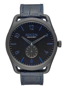 [ニクソン]NIXON 腕時計 C45 Leather Navy Gator Stainless Steel Analog watch A4652153-00