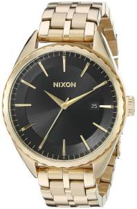 [ニクソン]NIXON 腕時計 Minx Analog Display Swiss Quartz Gold Watch A9342042 レディース