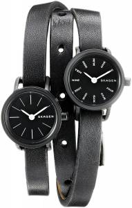 [スカーゲン]Skagen  Hagen Analog Display Analog Quartz Black Watch SKW2364 レディース