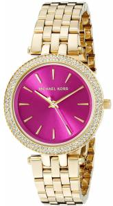 [マイケル・コース]Michael Kors  Mini Darci GoldTone Stainless Steel Watch MK3444