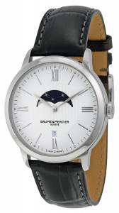 [ボーム&メルシエ]Baume & Mercier Baume et Mercier Classima White Dial Moonphase Black 10219