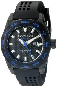[ロックマン]Locman Stealth 300 Metri Analog Display Automatic Self Wind Black 0216V3-CBCBNKBS2K