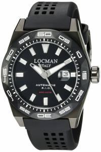 [ロックマン]Locman Stealth 300 Metri Analog Display Automatic Self Wind Black 0215V4-KKCKNKS2K