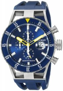 [ロックマン]Locman Montecristo Professional Divers Chronograph Analog Display 051200BYBLNKSIB