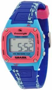 [フリースタイル]Freestyle Shark Graffiti Blue and Pink Polyurethane Watch FS81286 FS81286