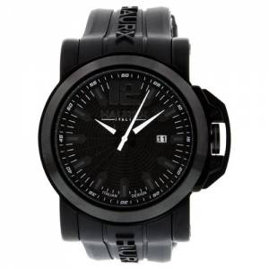 [ハウレックスイタリア]Haurex  San Marco Black Dial Stainless Steel Watch 1N370UNN