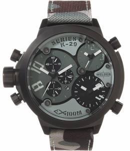 [ウェルダー]Welder by UBoat K29 Triple Time Zone Chronograph Black Steel Sport K29-8004-Amz