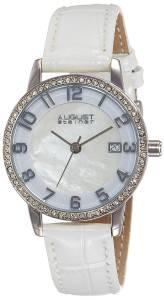 [オーガストシュタイナー]August Steiner MotherofPearl SilverTone Watch with White AS8056WT