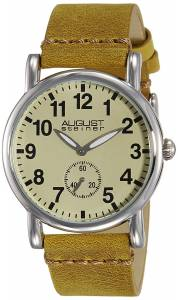 [オーガストシュタイナー]August Steiner  Swiss Quartz Silvertone Brown Leather AS8110BR