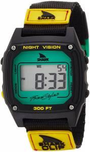 [フリースタイル]Freestyle Shark Clip Digital Display Japanese Quartz Black Watch 10019182