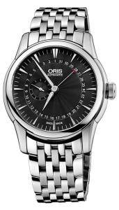 [オリス]Oris  Artelier Pointer Date Automatic Stainless Steel Watch Black Dial 744-7665-4054