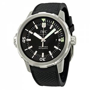 [アイダブルシー]IWC 腕時計 Aquatimer Black Dial Black Rubber Watch IW329001 メンズ