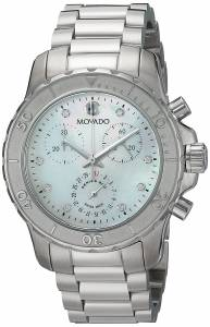 [モバード]Movado  Swiss Quartz Stainless Steel Casual Watch, Color:SilverToned 2600128