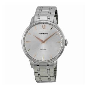 [モンブラン]MONTBLANC Meisterstuck Heritage Automatic Silver Dial Stainless Steel Watch 110696