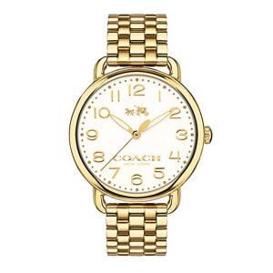 [コーチ]Coach  Delancey 36mm Bracelet Watch Chalk/Gold Plated Watch 14502261 レディース