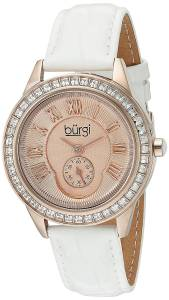 [バージ]Burgi  Rose Gold Quartz Watch With Rose Dial and Swarovski Crystal Accented BUR144WTR