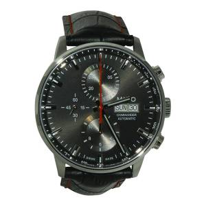 [ミドー]Mido 腕時計 Commander II Black Leather Automatic Watch MD M016.414.16.051.00