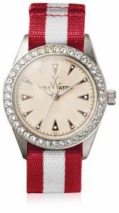 [トイウォッチ]Toy Watch  Quartz and Fabric/Steel, Color:Red/Grey VI08SL レディース