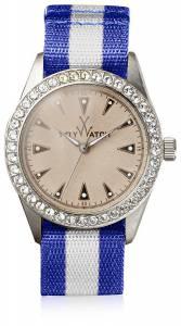 [トイウォッチ]Toy Watch  Quartz and Fabric/Steel, Color:Blue/Gray VI09SL レディース