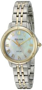 [パルサー]Pulsar  'Ladies Dress Solar' Quartz Stainless Steel Dress Watch PY5006