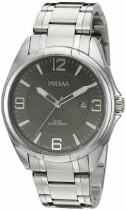 [パルサー]Pulsar  'Basic Dress' Quartz SilverTone and Stainless Steel Watch, Color: PH9095
