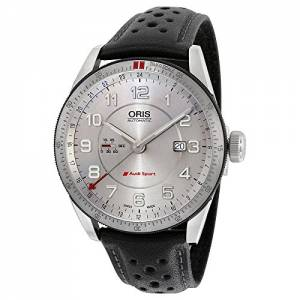 [オリス]Oris  Artix Audi Sport GMT Automatic Silver Dial Black Leather Watch 01 747 7701 4461LS