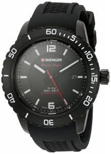 [ウェンガー]Wenger 'Roadster' Swiss Quartz Stainless Steel and Silicone Automatic 01.0851.124