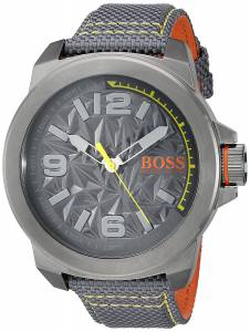 [ヒューゴボス]HUGO BOSS BOSS Orange 'NEW YORK' Quartz Resin and Canvas Casual Watch, 1513344