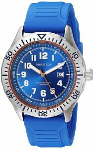 [ノーティカ]Nautica 'NSR 105' Quartz Stainless Steel and Silicone Casual Watch, NAD12535G