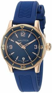 [ノーティカ]Nautica 'NCC 03' Quartz Stainless Steel and Leather Casual Watch, NAD11528G