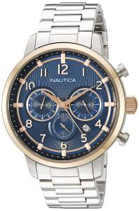 [ノーティカ]Nautica 'NCT 15 CHRONO' Quartz Stainless Steel Casual Watch, NAD19537G